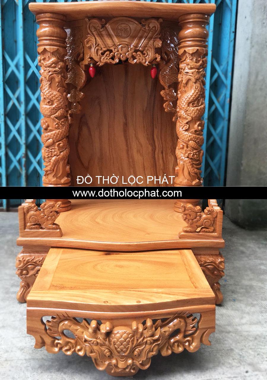 bàn thờ ông địa thần tài đẹp nhất hcm cột rồng chìm