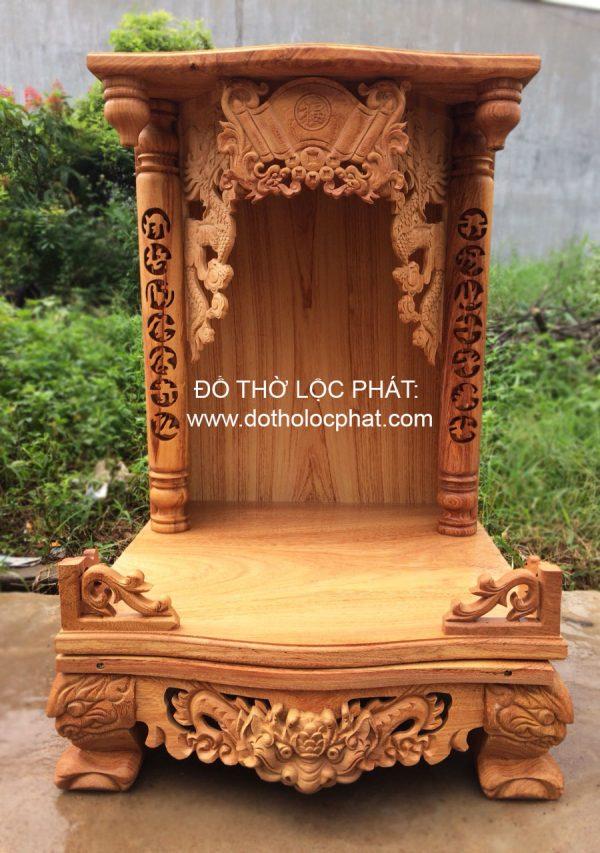 bàn thờ thần tài cột phụ chất gõ đỏ siêu đẹp - rẻ