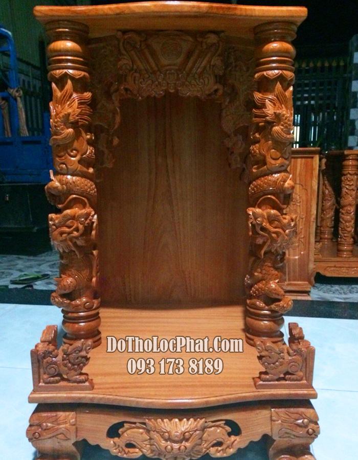 bàn thờ ông địa thần tài đẹp cột rồng cuộn tại hcm