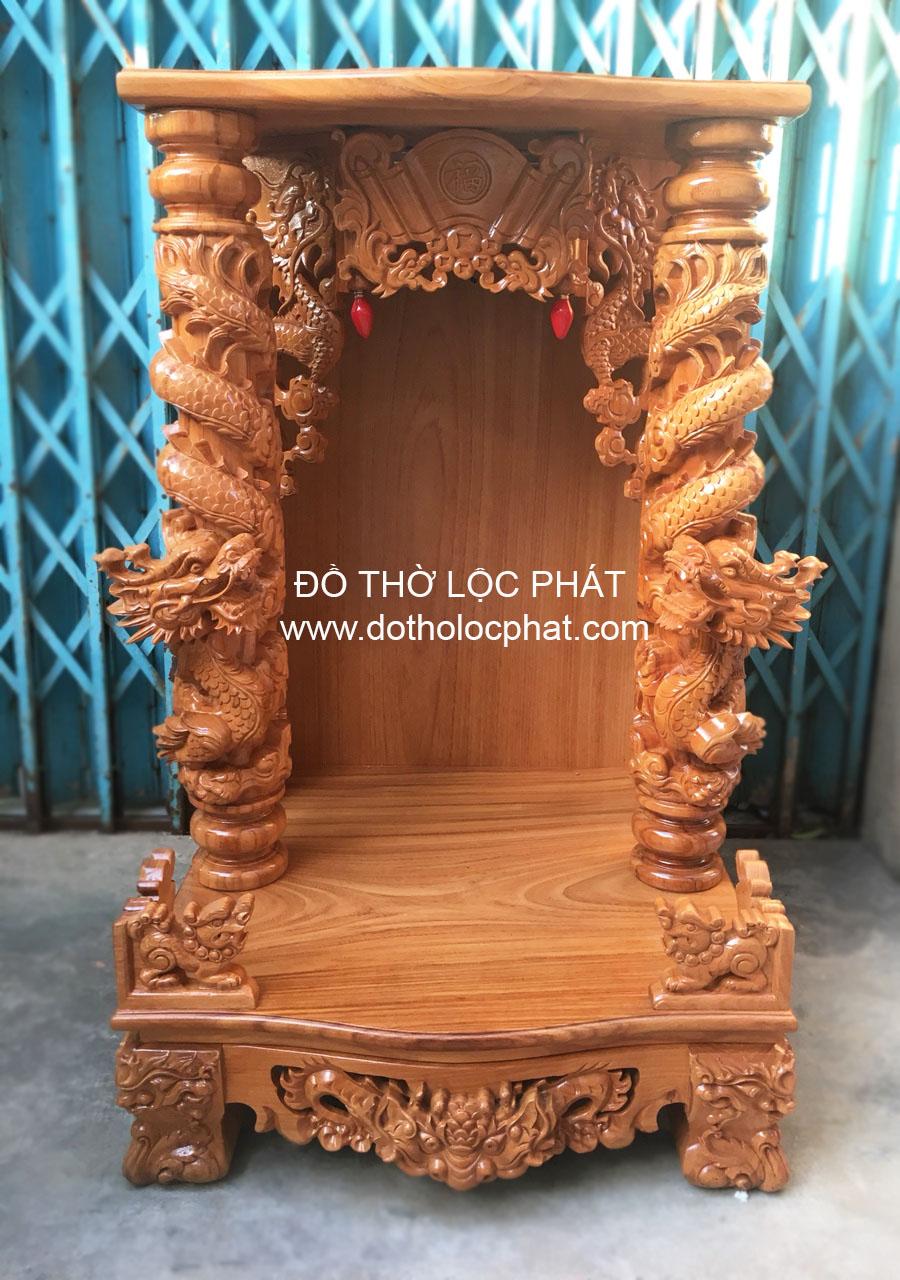 hình ảnh bàn thờ ông địa đẹp - nhận đóng bàn thờ thần tài theo yêu cầu