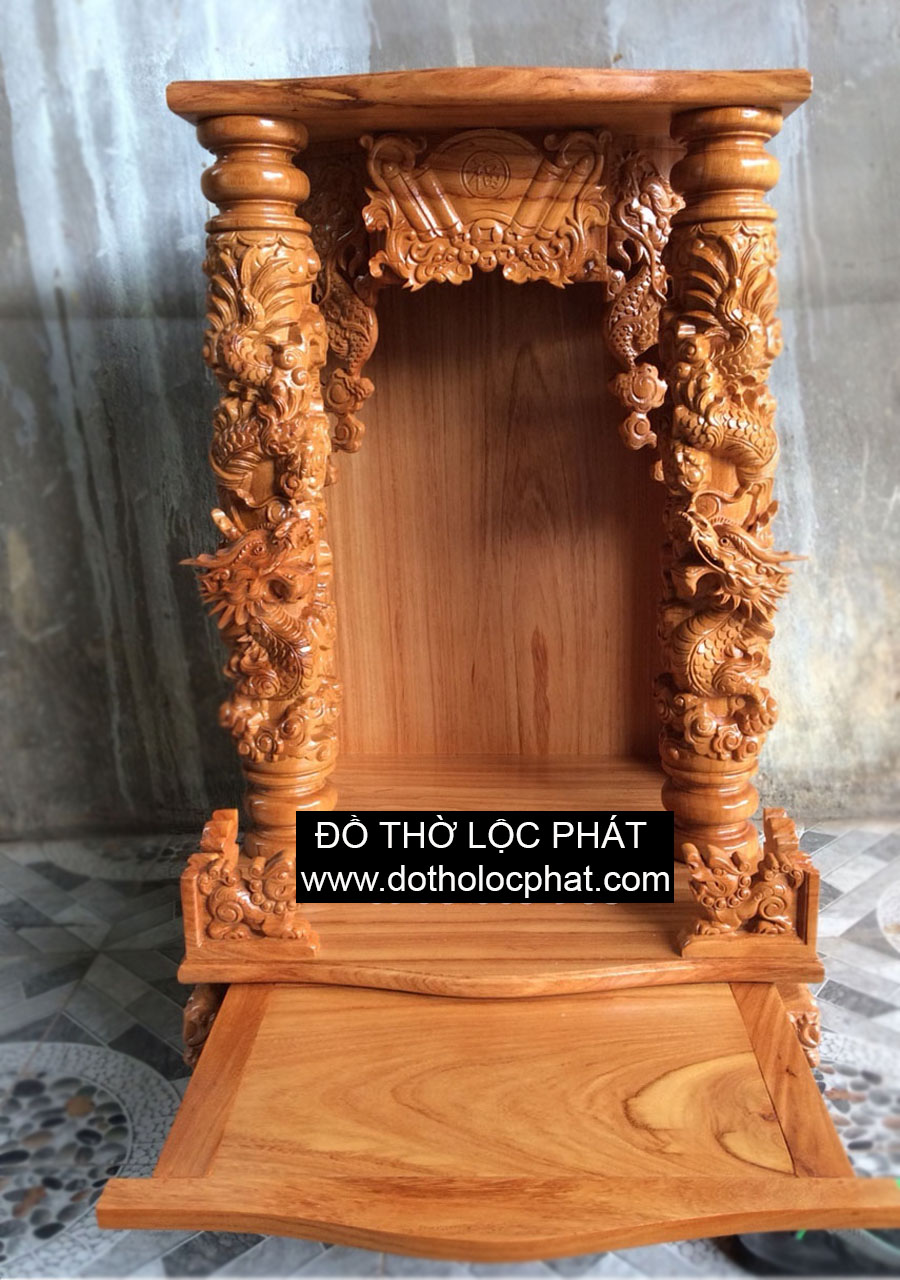 mẫu bàn thờ ông địa thần tài mái bằng 60 x 60 cao 98 full ngăn kéo siêu đẹp giá tốt nhất tại TP.HCM