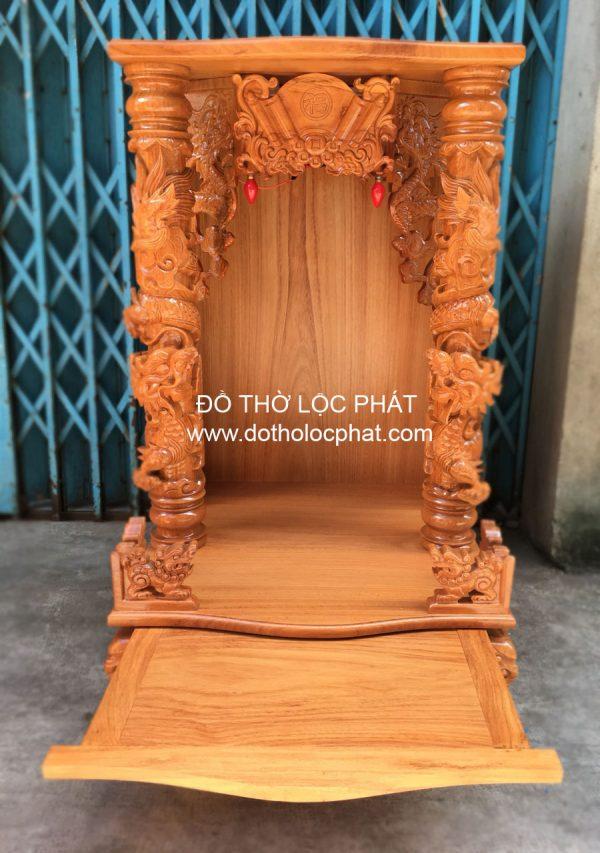 mẫu bàn thờ thần tài cột rồng trụ đẹp nhất tại Xưởng TP. HCM