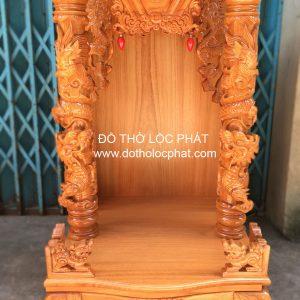 mẫu bàn thờ thần tài cột rồng trụ đẹp nhất