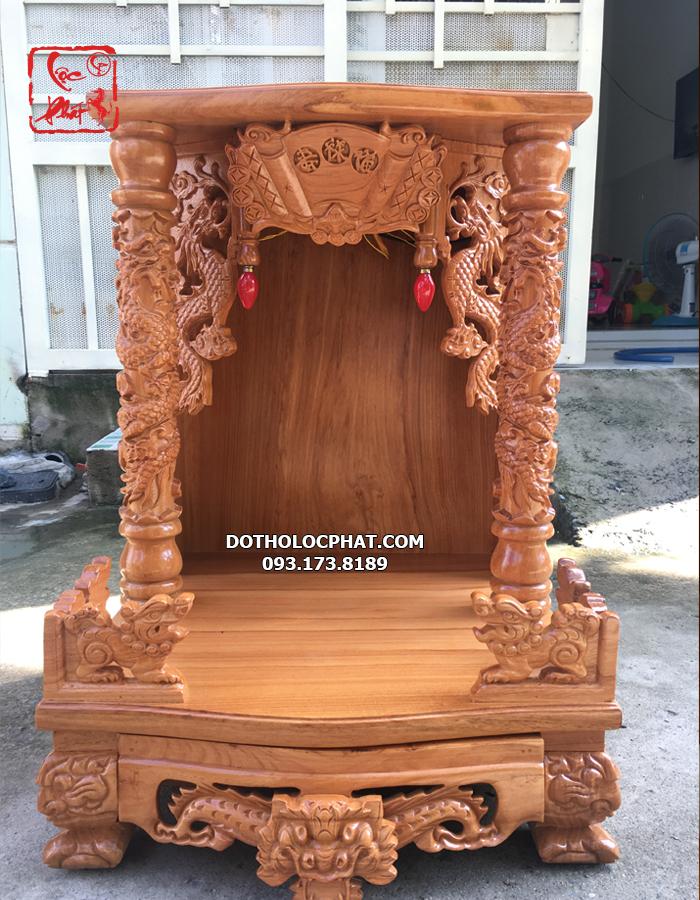 mẫu bàn thờ thần tài gỗ tự nhiên nguyên tấm đẹp nhất