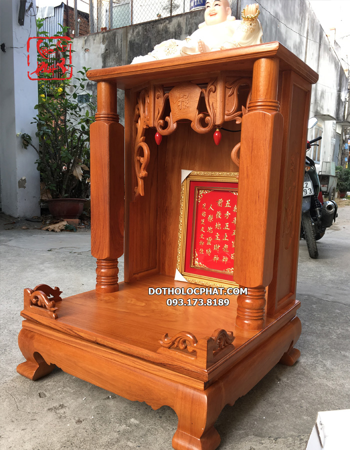 bàn thờ ông địa thần tài cột vuông trơn đẹp nhất hcm
