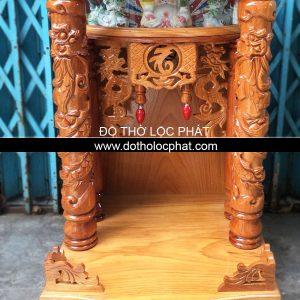 mẫu bàn thờ ông địa thần tài thân căm mặt gõ đẹp giá rẻ ngang 60 x 52 cao 88