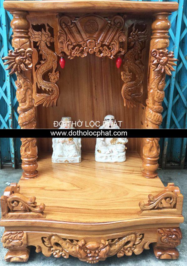 mẫu bàn thờ ông địa thần tài đẹp chạm tai rồng nổi - giá tốt nhất tại TP.HCM