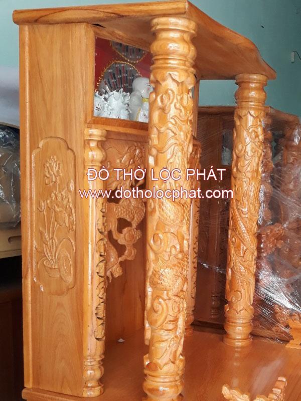 bàn thờ ông địa thần tài mái bằng có hộp để tượng phật di lặc giá rẻ