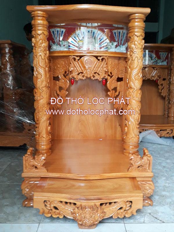 hình ảnh bàn thờ ông địa đẹp - chuyên sản xuất bàn thờ thần tài gỗ gõ đỏ