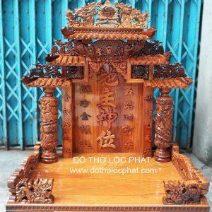 Mẫu bàn thờ ông địa thần tài mái ngói đẹp nhất tại TP.HCM. Nhận giao hàng toàn quốc