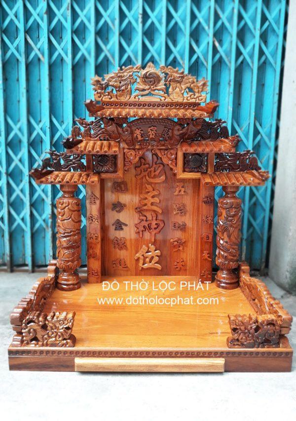 Bàn thờ ông địa thần tài đẹp – gỗ gõ đỏ – ngang 68-88-107. tại TP.HCM