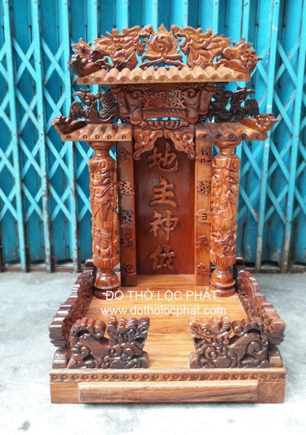 bàn thờ ông địa thần tài mái ngói tam cấp ngang 48