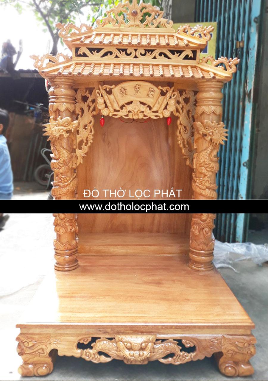 bàn thờ mái chùa vip đặt 3 ông
