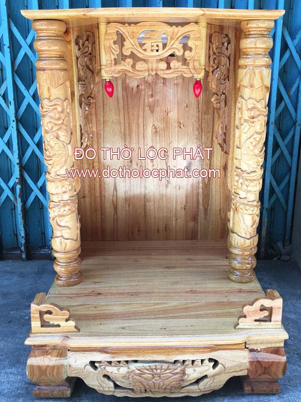 chuyên đóng bàn thờ ông địa thần tài bằng gỗ xoan đào đẹp rẻ tại TP.HCM
