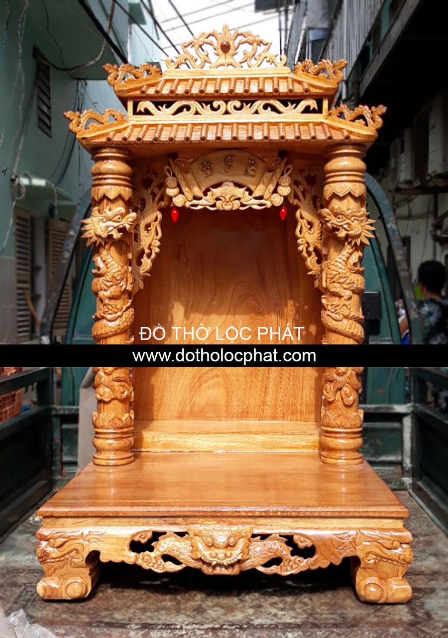 Mẫu bàn thờ ông địa thần tài mái chùa - mái ngói đẹp nhất hcm