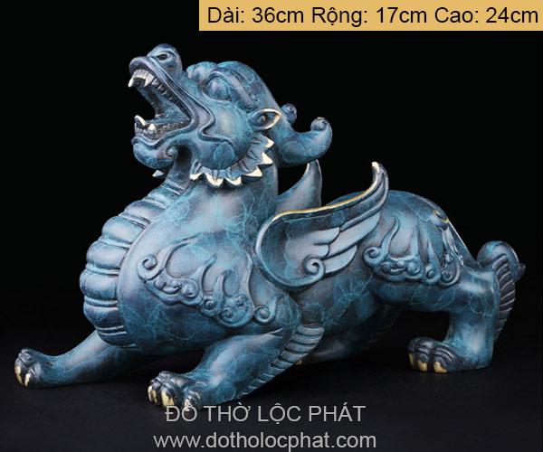tỳ hưu đồng màu xanh nhiều kích thước nặng từ 5 kg