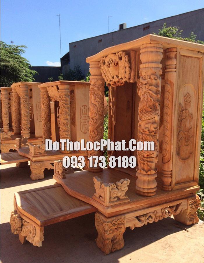 bàn thờ mái bằng cột chìm siêu đẹp