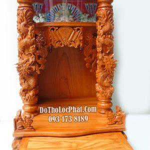 bàn thờ ông địa thần tài đẹp 81 x 81 x 127 có hộp đèn điện tử ngăn kéo full