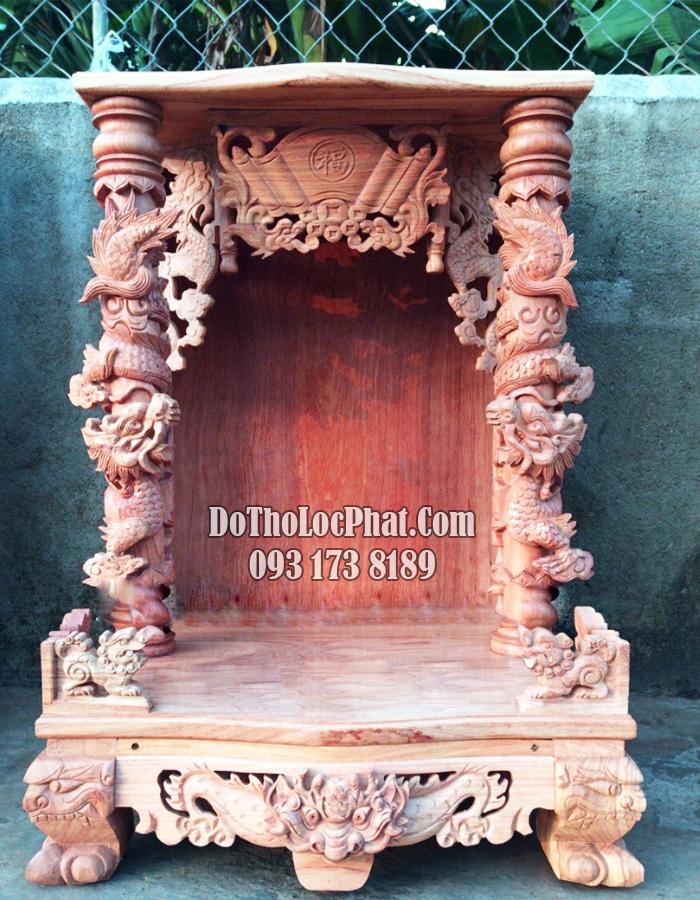mộc bàn thờ ông địa thần tài đẹp 81 x 81 x 127 có hộp đèn điện tử