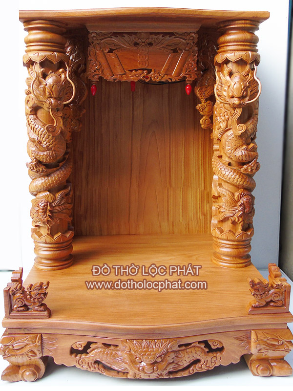 bàn thờ thần tài cột rồng 16 đẹp nhất hcm - mã btgg-013