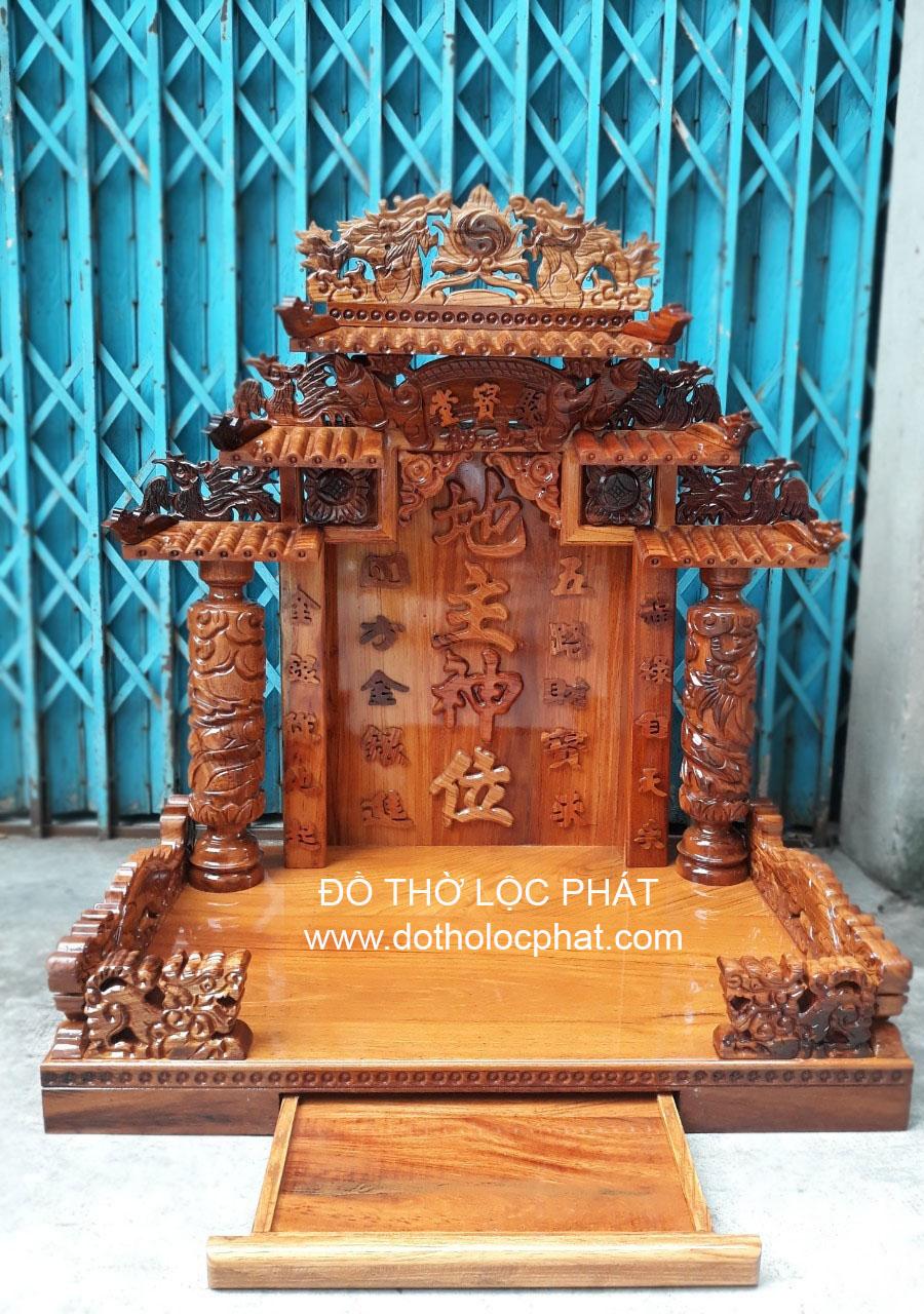bàn thờ đẹp để trưng 3 ông thần tài thần phát thổ địa