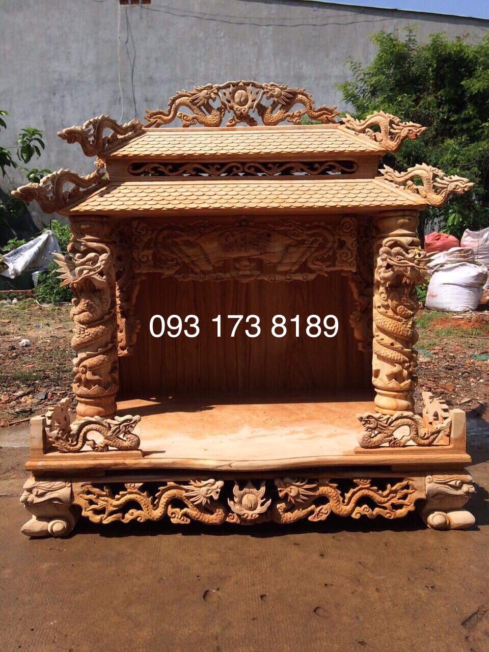 mẫu bàn thờ thần tài đẹp khủng giá rẻ