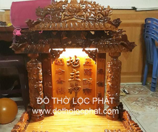 xưởng bàn thờ ông địa thần tài gỗ tự nhiên nguyên tấm chất lượng cao