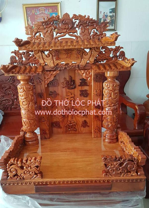 xưởng bàn thờ thần tài thổ địa gỗ tự nhiên cao cấp 100% nguyên tấm