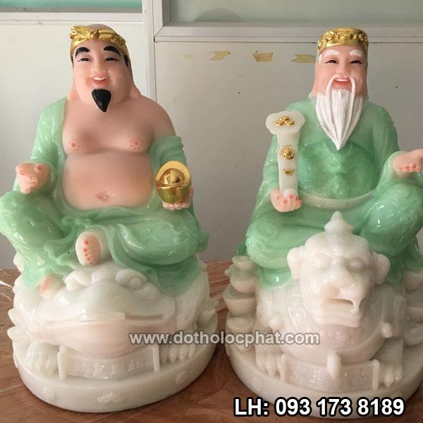 tượng ông địa thần tài đẹp bằng đá xanh ngự cóc và tỳ hưu