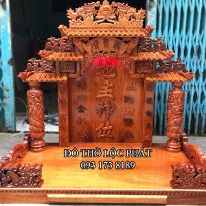 mẫu bàn thờ thần tài thổ địa mái ngói khủng - đẹp nhất - ngang 108, cao 127cm