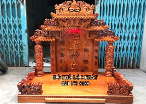 mẫu bàn thờ thần tài thổ địa mái ngói khủng – đẹp nhất – ngang 108, cao 127cm