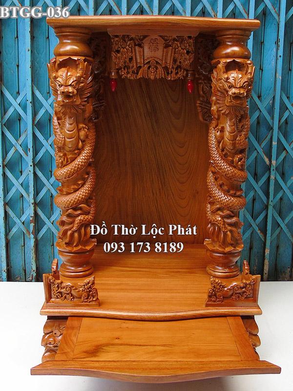 mẫu bàn thờ thần tài ông địa rồng phách đẹp nhất HCM ngang 81 x108cm cột 16