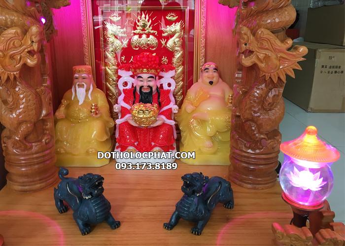bàn thờ thần tài có 3 ông kích thước bao nhiêu