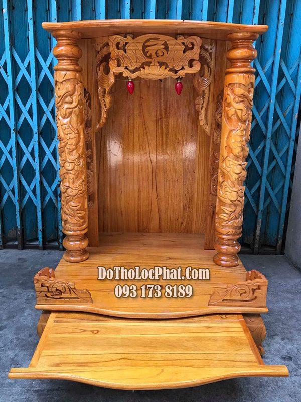 bàn thờ ông địa thần tài gỗ xoan đào giá rẻ nhất hcm