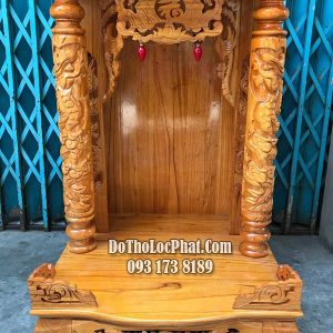 bàn thờ ông địa thần tài gỗ xoan đào giá rẻ nhất hcm ngang 58