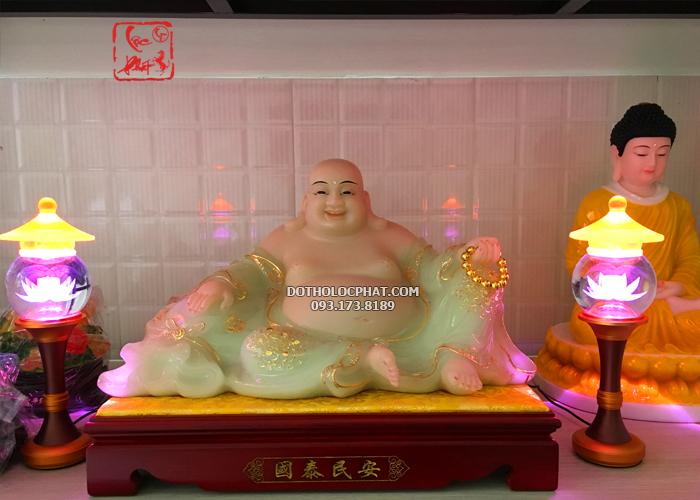 Mua tượng Phật Di lặc Xanh bằng đá thạch ngọc đẹp