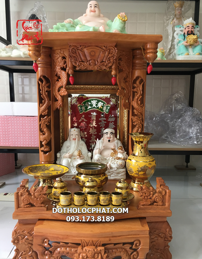 trọn bộ bàn thờ thần tài đẹp giá rẻ