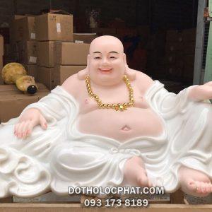 mua tôn tượng phật di lặc bằng bột đá màu trắng đẹp nhất nhì HCM