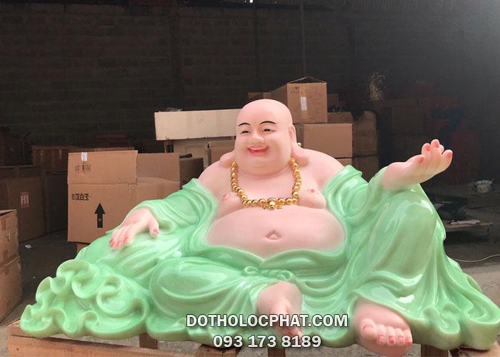 mua ở đâu tượng phật di lặc bằng bột đá cẩm thạch màu xanh siêu đẹp