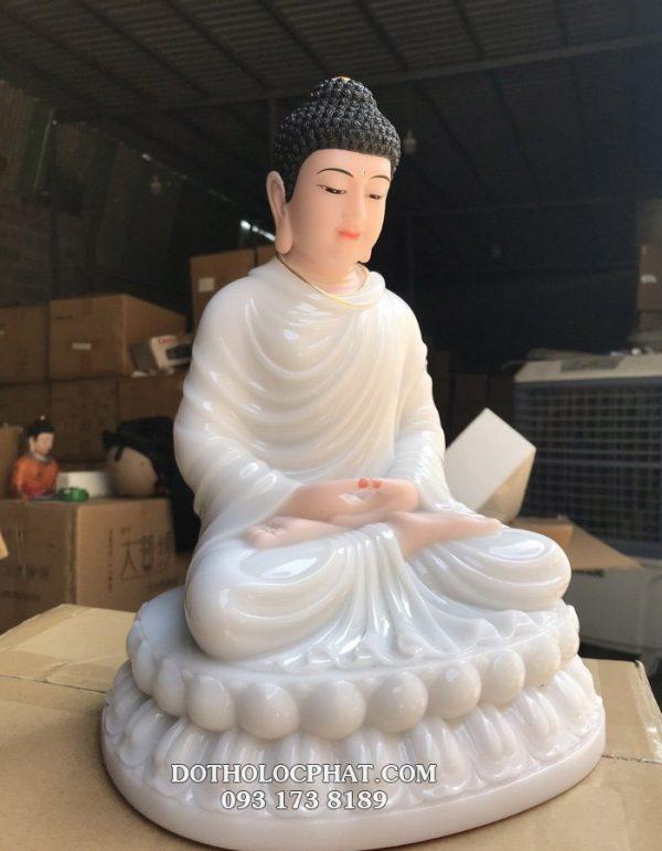 mẫu tượng phật thích ca mâu ni đẹp màu trắng