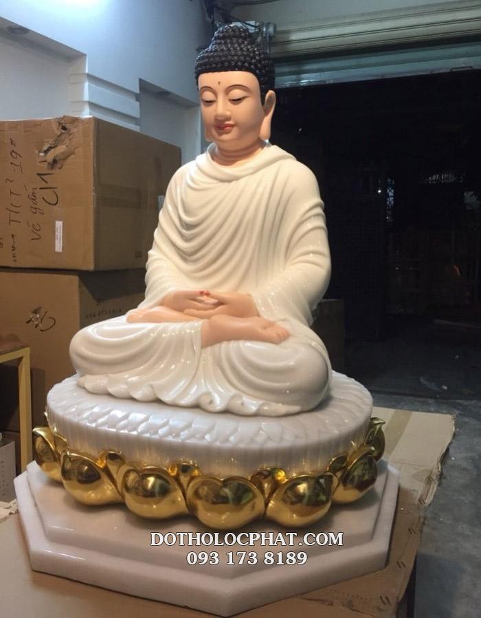 Mua tượng phật thích ca mâu ni đẹp bằng đá trắng tại HCM