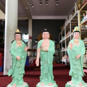 mua tượng tây phương tam thánh phật đẹp màu xanh ở đâu