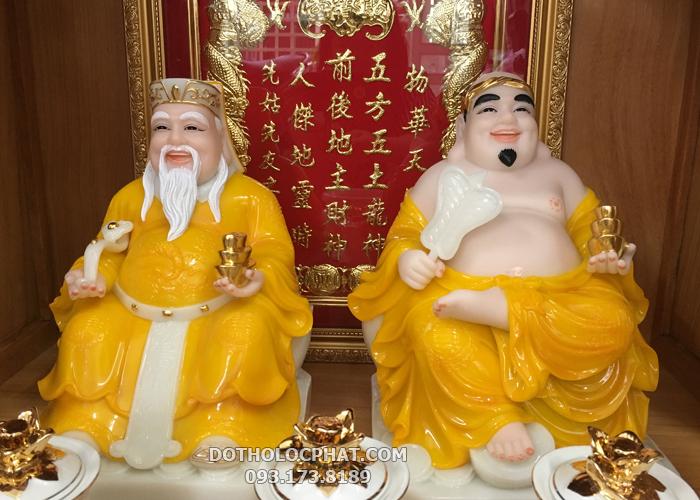tượng ông địa thần tài màu vàng ngọc đẹp nhất