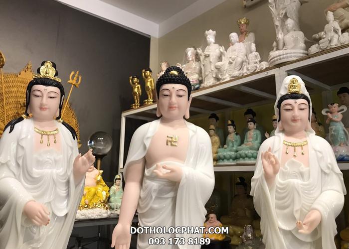 bộ tượng tây phương tam thánh bằng đá đẹp nhất hcm