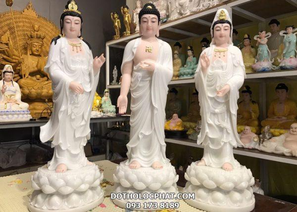 bộ tượng tây phương tam thánh bằng đá đẹp nhất
