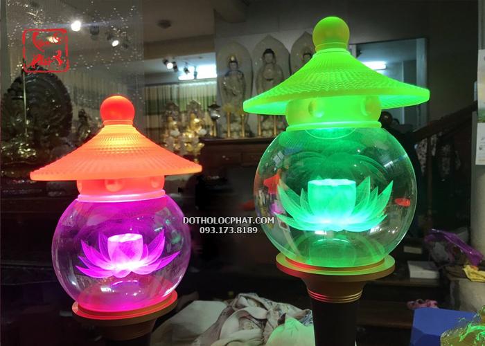 đèn thờ phật đổi màu bằng điện đẹp