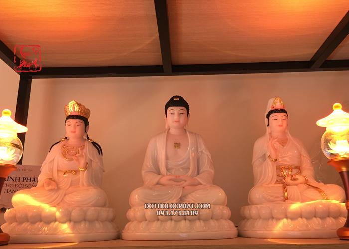 mẫu tượng tây phương tam thánh ngồi đẹp nhất