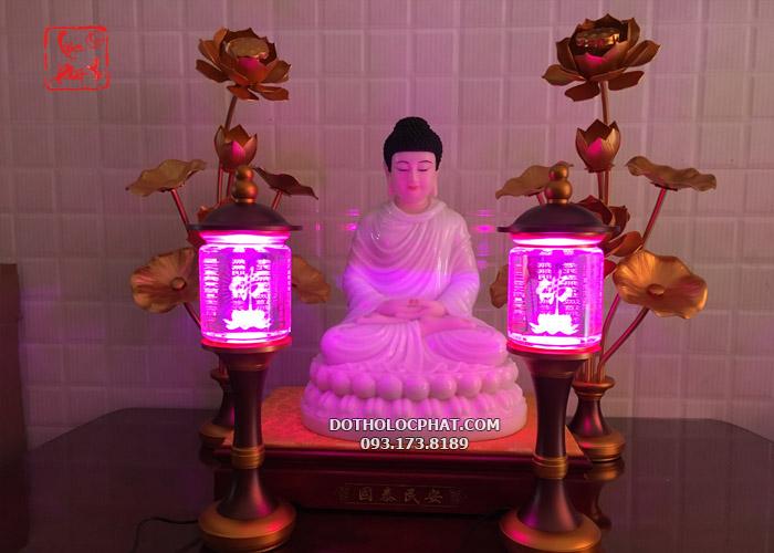 đèn tâm kinh thờ Phật nhiều kích thước đẹp