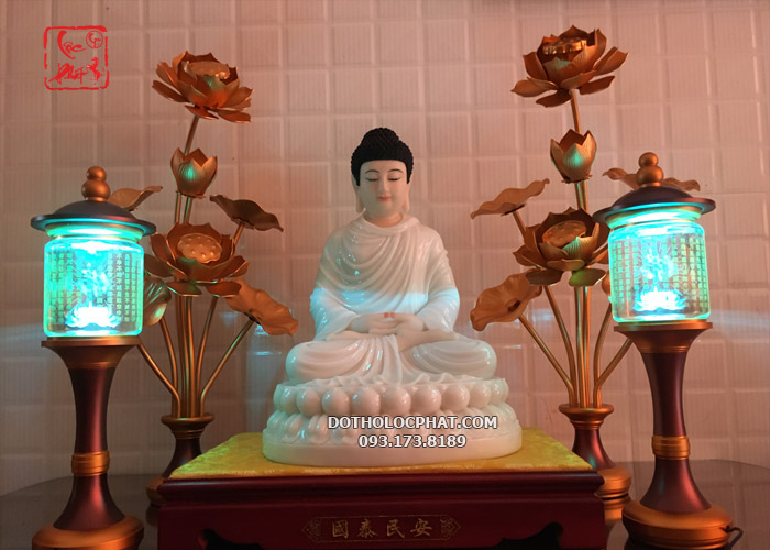 đèn tâm kinh thờ Phật 16 inch - cao 40cm