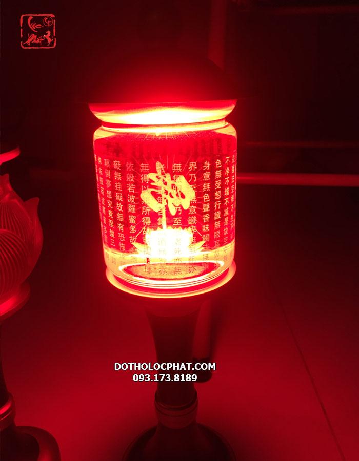 đèn tâm kinh đổi màu thờ phật đẹp nhất hcm